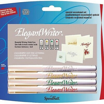 Speedball Elegant Writer Special Occasion Set 4 Calligraphy Markers