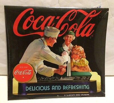 Coca-Cola Delicious And Refreshing 2006 Calendar Drink Coca-Cola. New