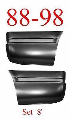 88 98 Chevy 8FT Lower Rear Bed Patch Set, Rust Repair, GMC Truck, 1.2MM Thick