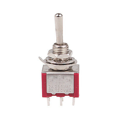 6 Pcs 3 Position DPDT ON-OFF-ON Momentary Mini Toggle Switch AC 250V/2A 120V/5A