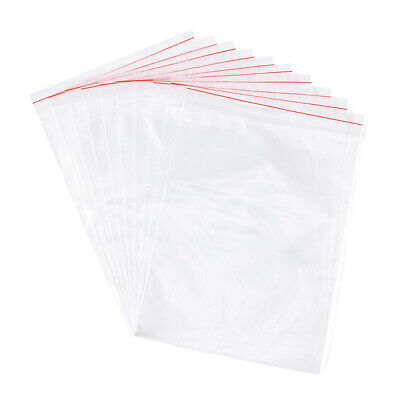 100/500 Reclosable Zip Lock Bags Clear Plastic Storage Bags Top Seal Pick Size