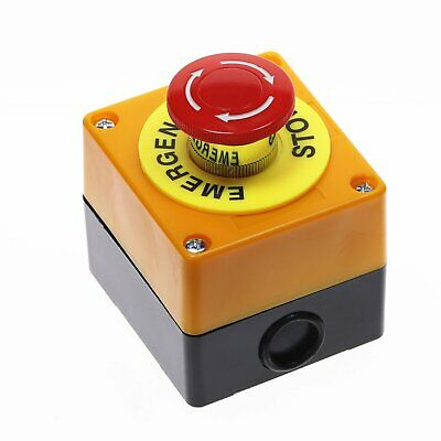 Red Sign Mushroom Emergency Stop Push Button Switch Station 1 NO 1 NC 10A 660V