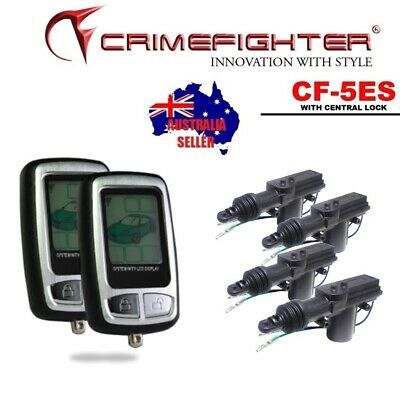 NEW CrimeFighter CF5 One Way Remote Start Car Alarm with Central Locking Kit