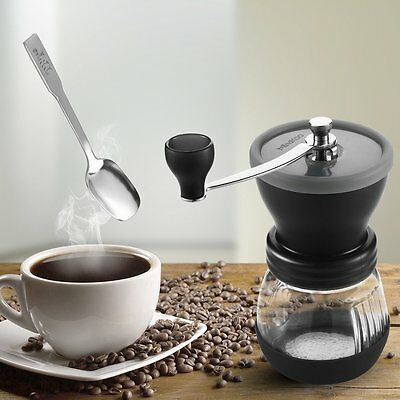 Mindkoo Manual Whole Coffee Bean Grinder Nut Spice Blender Espresso with Spoon