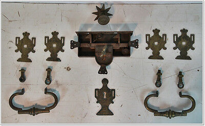 Set Fittings For Finches Chest Elbinger Flat Lid Chest Louis XVI In 1800