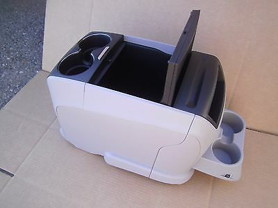 2011 - 2016 TOYOTA SIENNA FLOOR CENTER CONSOLE  Drink Tray Gray Black Cover