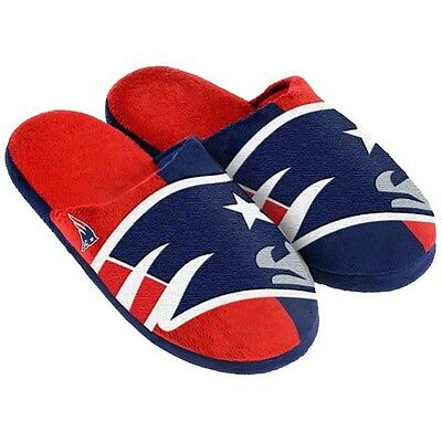 NFL New England Patriots American Football Team Slippers in Blue/Red UK 10-11