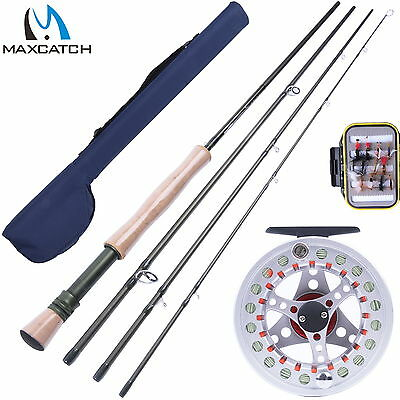 8WT Fly Fishing Combo 9FT Fly Rod & 7/8WT Fly Reel & Fly Box & Flies & Fly Line