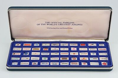The Official Emblems of the World's Greatest Airlines 925 Silver & Enamel Colors