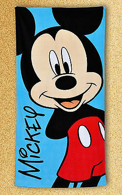 Officially Licensed Disney Mickey Mouse Print Kids Blue Beach Holiday Towel