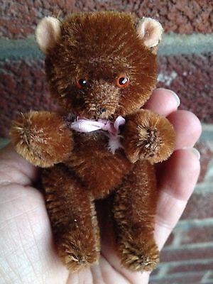 """RARE Antique Vintage 4"""" LIMB MOHAIR JOINTED TEDDY BEAR TOY GERMAN CUTE BUY NOW!"""