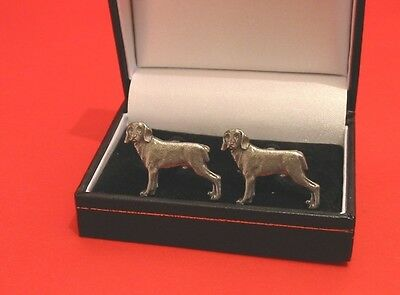 Weimaraner Dog Pewter Cufflinks Men's Gift Father's Day Christmas Gift