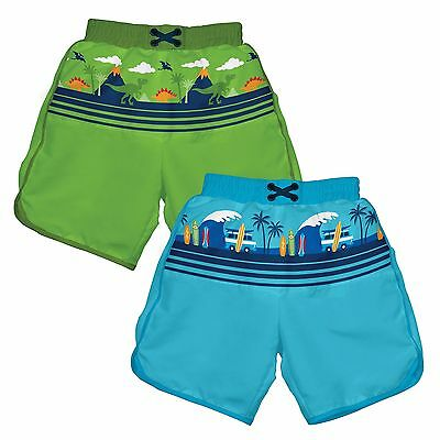 iPlay Boys Ultimate Swim Diaper Panel Board Shorts ~ Cute & Fun Prints