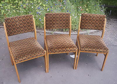 3 x Vintage Dining Chairs Made in GDR