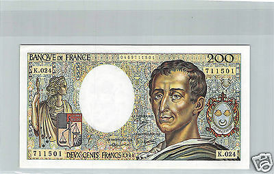 France 200 Francs Montesquieu 1984 K.024 N° 0469711501