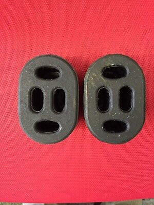 2 x UNIVERSAL HEAVY DUTY HANGER RUBBER EXHAUST MOUNTING TWIN PACK EXHAUST HANGER
