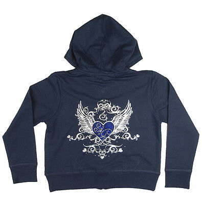 Soul & Glory Girls 9 yrs 10 yrs 11 yrs 12 yrs Short Crop Zip Up Blue Hoodie