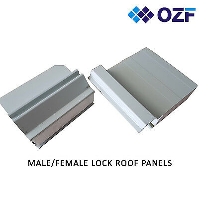 6X 6M 75mm thick Insulated roofing panel cool panel