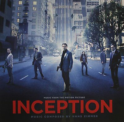 INCEPTION : Original Soundtrack Hans Zimmer (Clear LP Vinyl) sealed