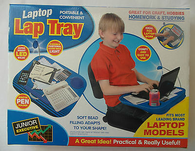 Portable Lap Tray Led Light, Pen&Cup Holder- for Crafts Hobbies Homework Laptops