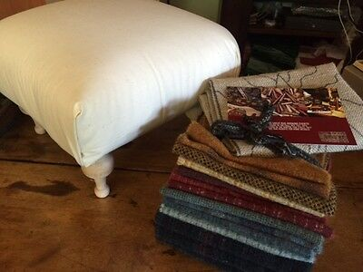 Bonnet Toppers stool with pattern and uncut wool