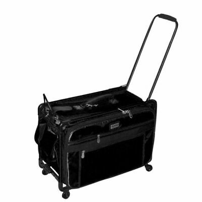 Tutto Black 22 Inch Sewing Embroidery Machine Trolley Case On Wheels New