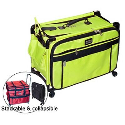 Tutto Lime 20 Inch Sewing Embroidery Machine Trolley Case On Wheels New