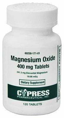 RISING PHARMACEUTICALS MAGNESIUM Oxide 400mg 120ct Tablets