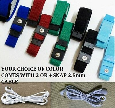 2 or 4 ELECTRO SEX SHOCK E-STIM ESTIM BANDS STRAPS RINGS WITH 2.5mm CABLES