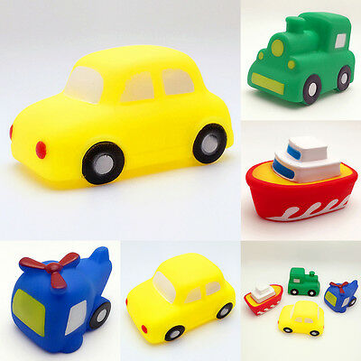 Baby Toddler Vehicles Bathtime Floating Squeaky Sqeeze Bath Toys Gift Water Play