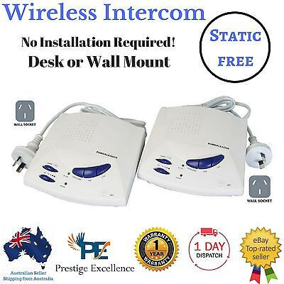 Wireless Intercom System 2 Channel Way New Home Office Baby Monitor Radio Phone