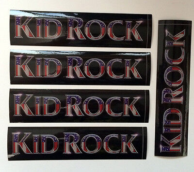 """Kid Rock - 5 stickers from """"Cocky"""" - official Atlantic Records merch 7.5"""" decals"""