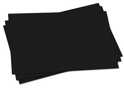 Pack of 100 A4 Black Sugar Paper Sheets - Recycled Arts Crafts