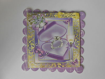 PK 2 LILAC ROSES ENVELOPE EMBELLISHMENT TOPPERS FOR CARDS//CRAFTS SPECIAL FRIEND