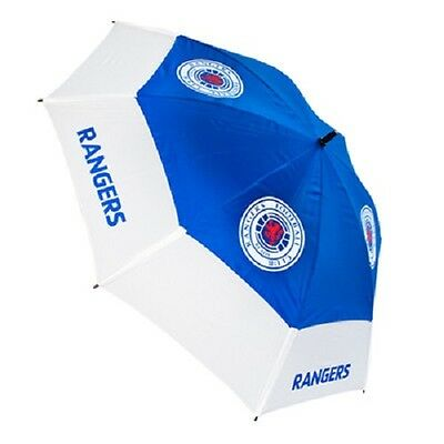 "New Official Rangers FC 64"" gust buster double canopy golf umbrella"