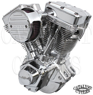 "Polished 107"" Ultima Engine El Bruto Evolution Motor for Harley Evo Engine 84-99"