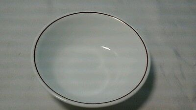 CORELLE PEWTER BROWN Cereal/soup Bowl White With Stripe On Inside ...