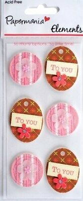 Papermania To You Embellishments For Cards/crafts
