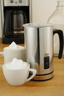 Milk Frother Heater Steamer Carafe Hot Cold Froth Foam Cappuccino Latte Coffee