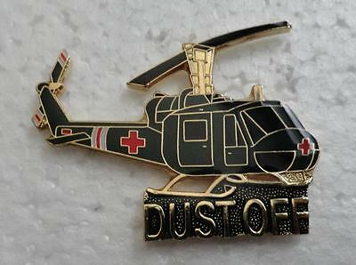 Dust Off - Huey Helicopter Pin