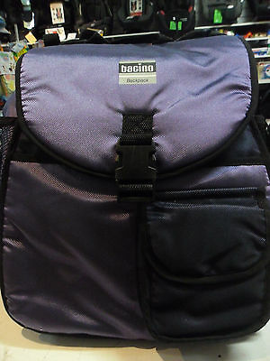 New Bacino Nappy Bag Backpack Back Pack Baby Toddler Mum Purple