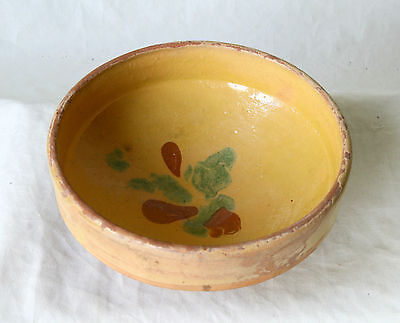 ANTIQUE 19`c Ottoman Empire HandMade REDWARE Glased Pottery Ceramic Dish Bowl 25 • CAD $25.39