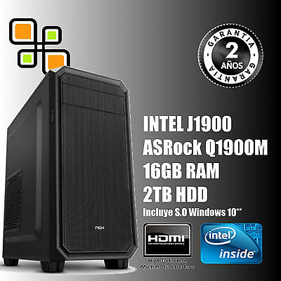 Ordenador de sobremesa PC Intel Quad Core 9.6GHz + 16GB RAM + 2TB HDD / HDMI