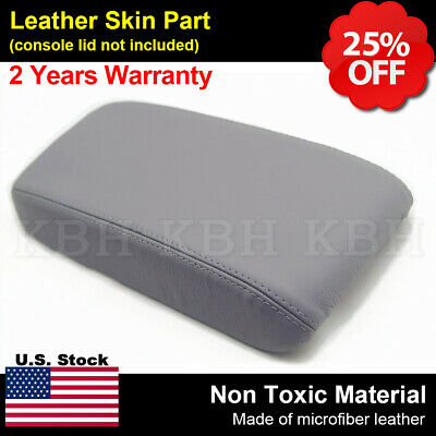 Leather Armrest Center Console Lid Cover Fits for Honda Civic 2006-2011 Gray