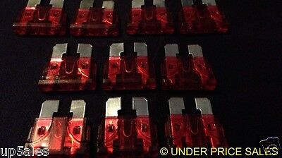 10 X WEDGE 12V RED 10A TRUCK BOAT CAR  Blade QUICK POST AU SUPPLIER B1X10
