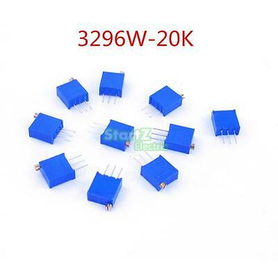 100pcs 3296W 203 High Precision Trimmer Potentiometer Variable Resistor 20K Ohm