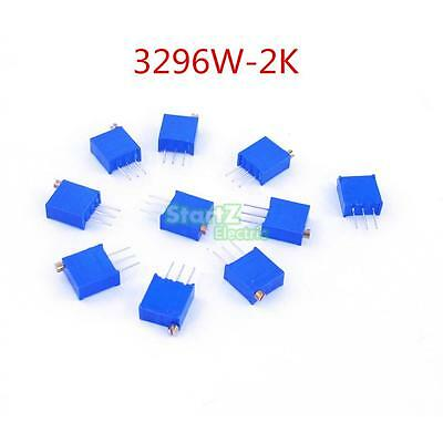 100pcs 3296W 202 High Precision Trimmer Potentiometer Variable Resistor 2K Ohm