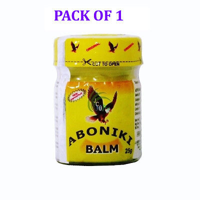 Aboniki Balm Relieves pain, aches, waist pain, backaches, cold and catarrh 25g