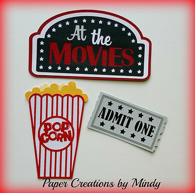 Craftecafe Mindy Movies title premade paper piecing for scrapbook page album