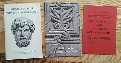 Ancient Greek Art & Athenian Agora x3 booklets black-figure pottery stone carvin